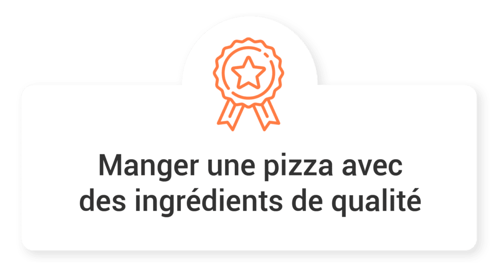 manger une pizza avec des ingredients de qualite